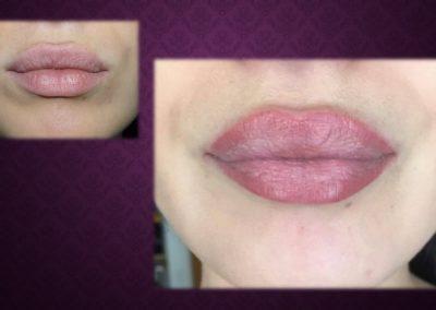 Maquillage Permanent contour de lèvres et ombrage Nimes Ysabel Marignan