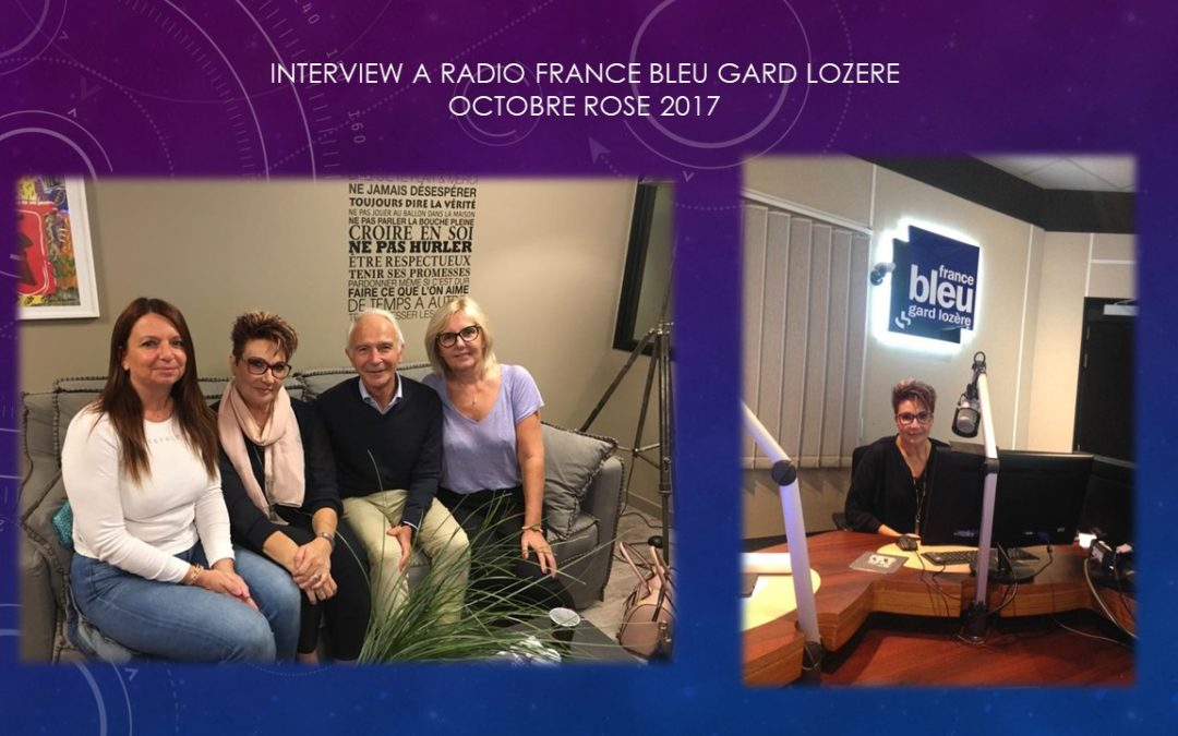 Interview a radio France bleu gard lozere 2017 AVEC PR MARES