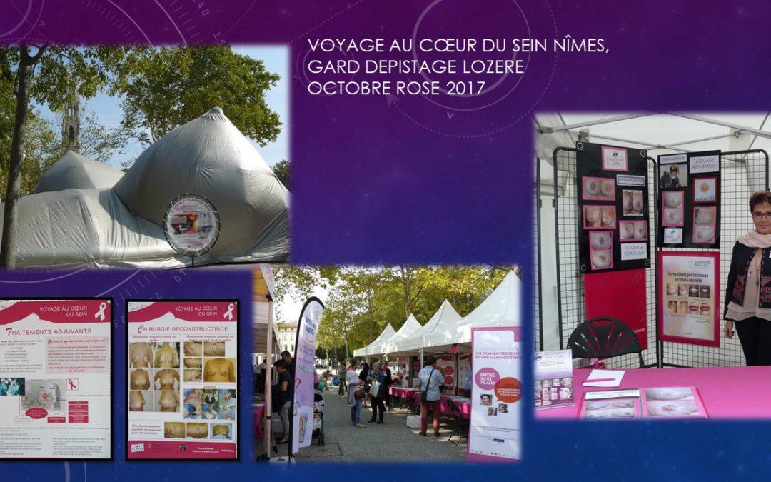 VOYAGE AU CŒUR DU SEIN Nîmes, GARD 2017 octobre rose ysabel marignan nimes dermographe