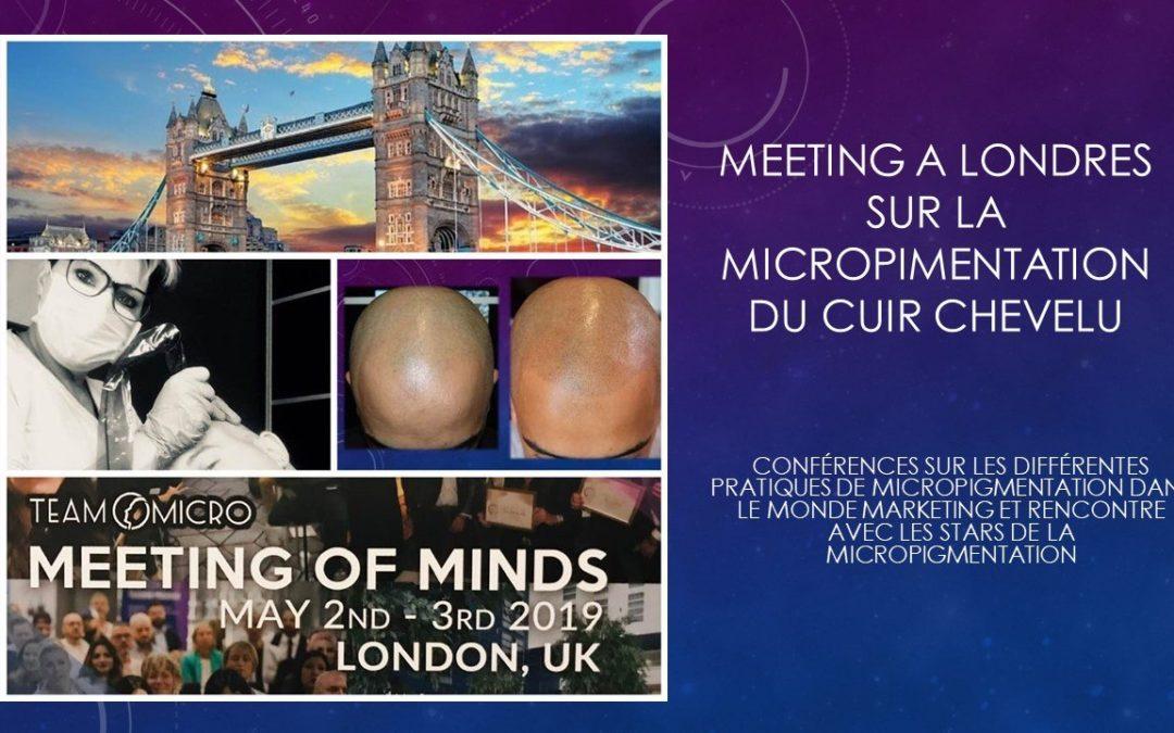 Meeting of minds Micropigmentation du cuir chevelu mai 2019