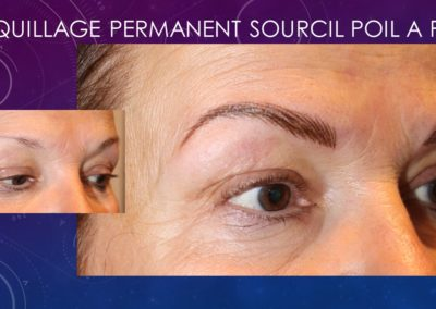 Maquillage permanent sourcil poil a poil