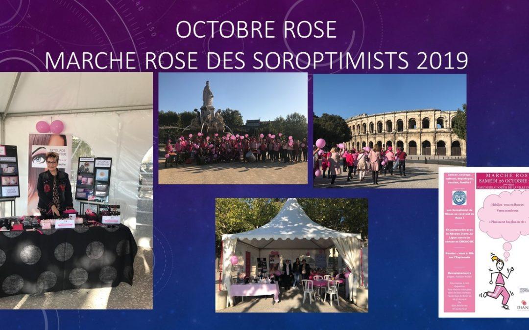Les Soroptimistes - Marche rose octobre 2019 - Maquillage Permanent Ysabel Marignan Nimes