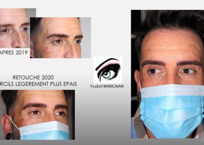 sourcils masculins nimes ,montpellier ,marseille, maquillage permanent pour homme isabelle marignan