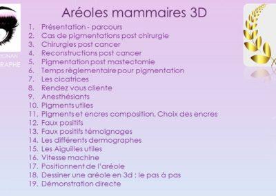 sommaire aréole mammaire 3D à Nîmes