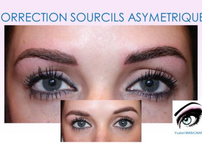 correction sourcils asymétriques maquillage permanent nimes