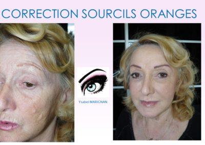 maquillage permanent orange correction sourcils oranges nimes