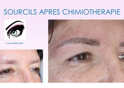 ysabel marignan maquillage permanent chimiothérapie préparation chute sourcils avec tatouage réparateur nîmes