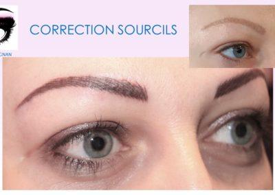correction sourcils gris et ratés ysabel marignan maquillage permanent raté correction nimes