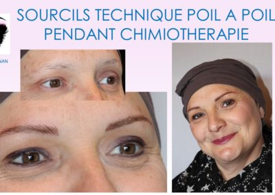 preparation sourcils chimiothérapie institut du sein nimes ysabel marignan nimes