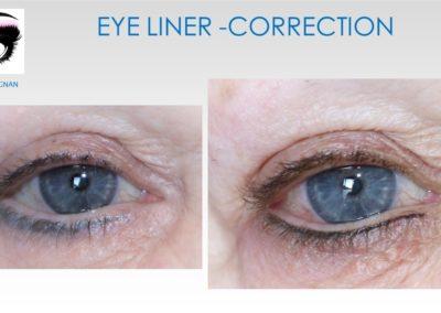 correction de eye liner MAQUILLAGE PERMANENT NIMES YSABEL MARIGNAN nimes,avignon, montpellier, ales