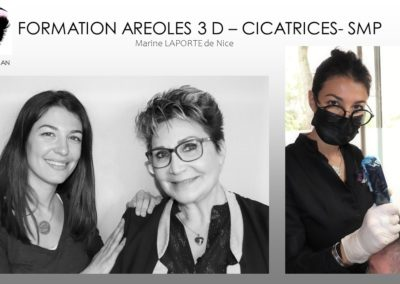 formation aréoles 3D, formation tricopigmentation